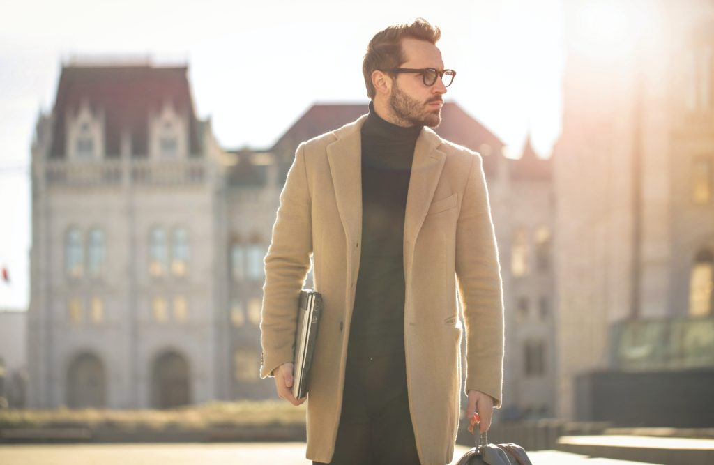 trench coats, one of the best men outfit ideas