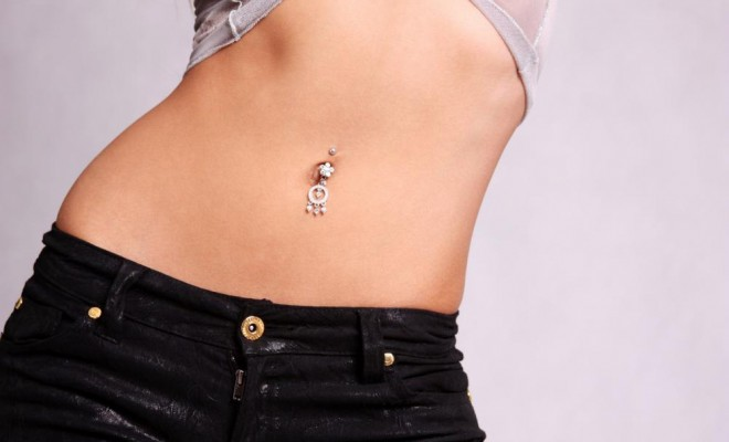 belly button piercing care