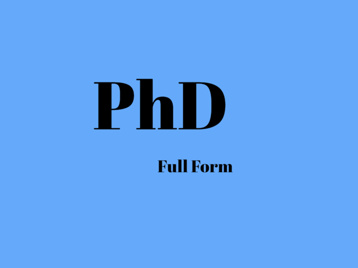 Know More About PhD Full Form